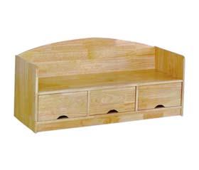 实木抽屉式长椅